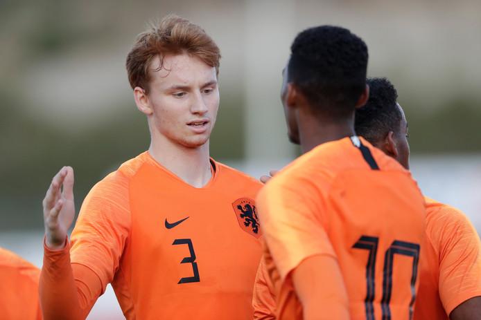 Sepp van den Berg was dinsdagavond basisspeler tegen Portugal O19.