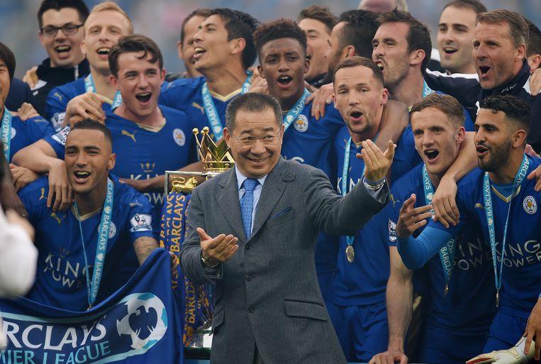 In 2010 kocht Srivaddhanaprabha zich in bij Leicester City. Zes jaar later haalde de club compléét onverwacht de titel.