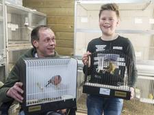 Vader uit Tubbergen pakt eerste, zoon tweede titel met hun vogels