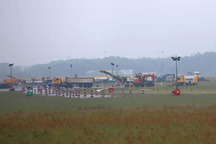 Werkzaamheden op Eindhoven Airport