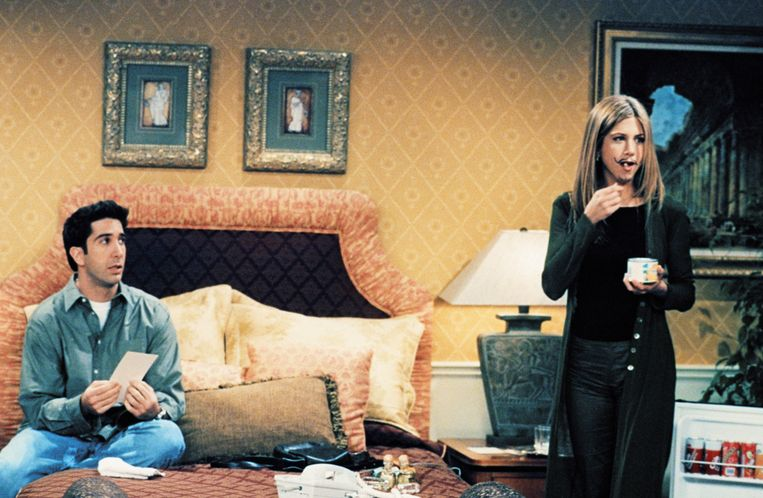David Schwimmer en Jennifer Aniston speelden Ross en Rachel in 'Friends'.