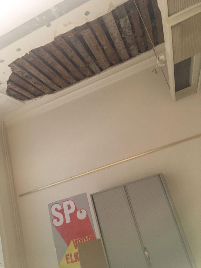 Bij de SP kwam het plafond naar beneden. Beeld