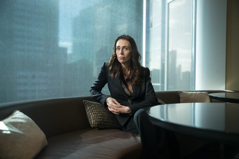 Jacinda Ardern in Melbourne in juli. 'Door de sociale cohesie te stimuleren strijden we tegen alles wat het mogelijk maakt dat de haat zich kan vormen en ontwikkelen.' Beeld Getty