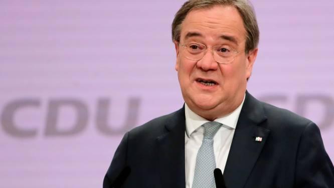 Armin Laschet verkozen tot nieuwe voorzitter van partij bondskanselier Angela Merkel