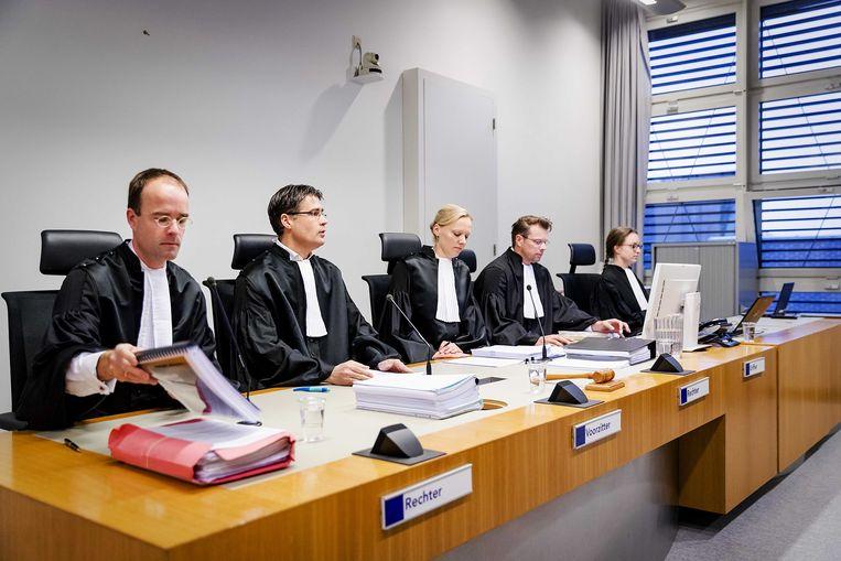 De rechtbank tijdens de inhoudelijke behandeling van de moordzaak tegen Mark de J. Beeld ANP