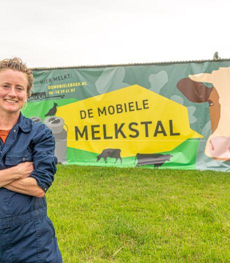 Boerin Ellen (34) begint juist nu melkbedrijf: 'Mensen beginnen te lachen als ze mij zien'