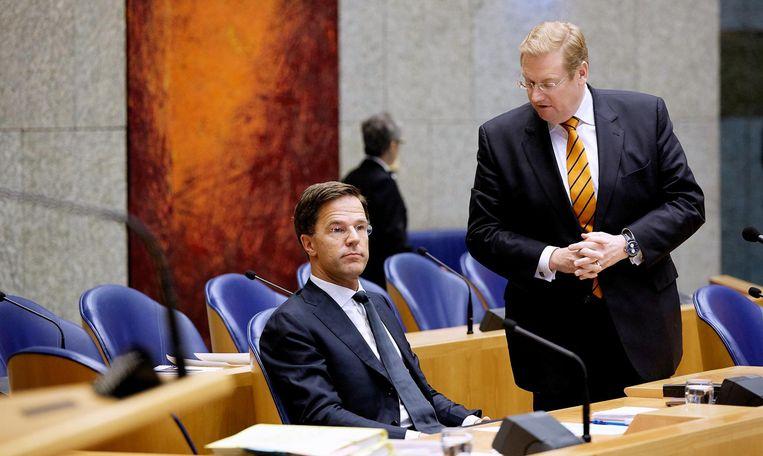 Rutte en Van der Steur in de Tweede Kamer Beeld anp