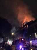 De brand brak uit in een leegstaande woning.