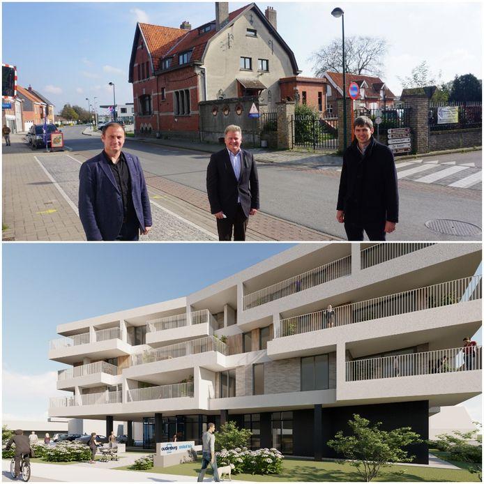 Site Vanderheyde vandaag (boven) versus in de toekomst.