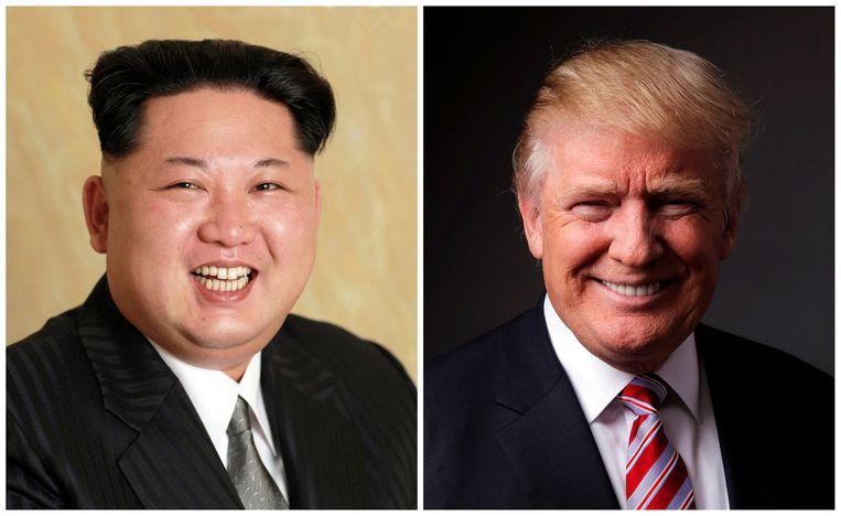 De Noord-Koreaanse leider Kim Jong-un en Amerikaans president Donald Trump.