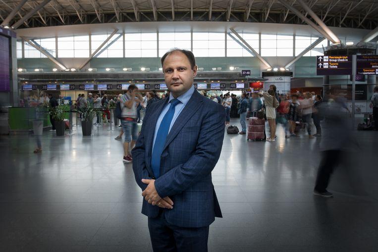 Dmytro Verbovski, IT-manager vliegveld Kiev Beeld Jeroen de Bakker
