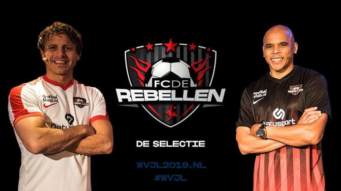 Marcel Meeuwis (links) en Glenn Helder van FC De Rebellen.