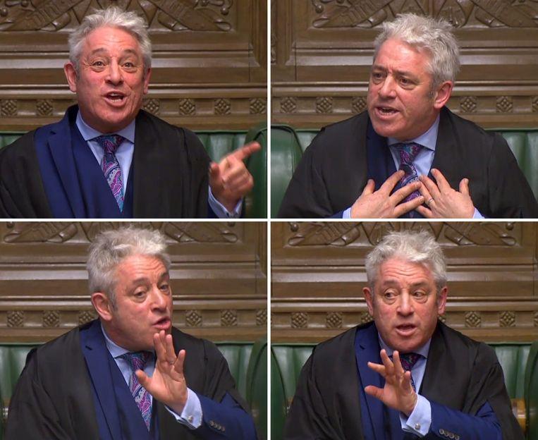 De flamboyante Speaker van het Lagerhuis John Bercow (56). Beeld AFP