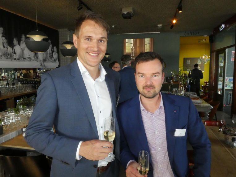 Projectontwikkelaars Thomas van den Doel (Vorm) en Thomas Veys (Besix Red). Thomas en Thomas, klopt. Beeld Hans van der Beek