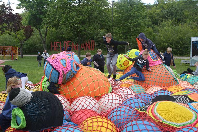 De kinderen konden zich uitleven op het openingsfeest.