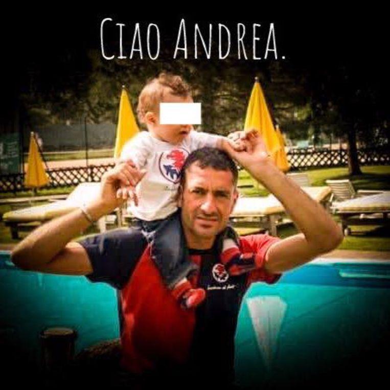 Amateurvoetballer Andrea Cerulli was op weg naar zijn werk. Hij laat een zoontje na.
