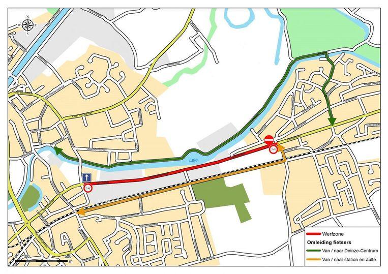 De werken vinden plaats op het traject tussen de kruispunten Nieuwstraat-Kappellestraat in Astene en het kruispunt van de Guido Gezellelaan en de Georges Martensstraat in Deinze.