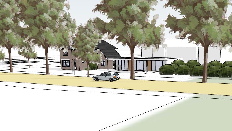 Het nieuwe onderkomen voor het hospice aan de Quickbornlaan 13 in Epe.