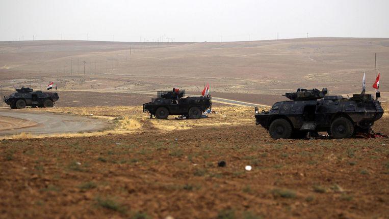 Iraakse troepen in Kirkuk. Beeld afp
