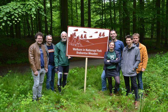 Groen opende maandag in het Zoniënwoud symbolisch het Nationaal Park Brabantse Wouden.