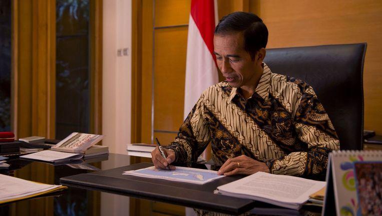 De nieuwe Indonesische president Joko Widodo. Beeld afp