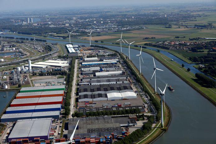 Windmolens ten noorden van Geervliet-Heenvliet
