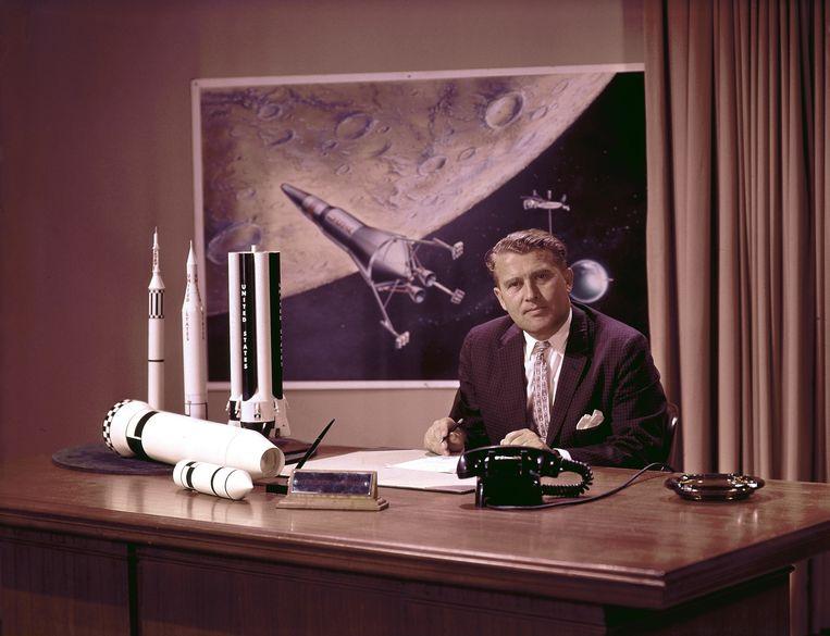 Wernher Von Braun. 'In Amerika werd over Von Braun gesproken als een heilige. Wat in je kraam te pas komt, gebruik je.' Beeld Getty Images