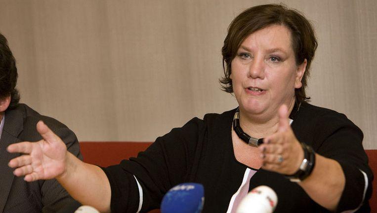 FNV-voorzitter Agnes Jongerius:''Vrouwen hebben te veel de neiging om te denken dat ze vanzelf opgemerkt zullen worden.'' Foto ANP Beeld