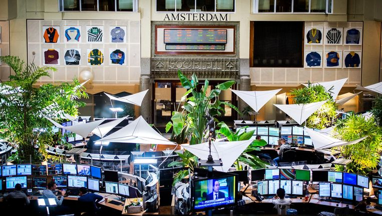 Beursgebouw in Amsterdam. Beeld anp