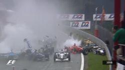 Twintig jaar geleden vond op het mythische circuit van Francorchamps de grootste F1-crash ooit plaats