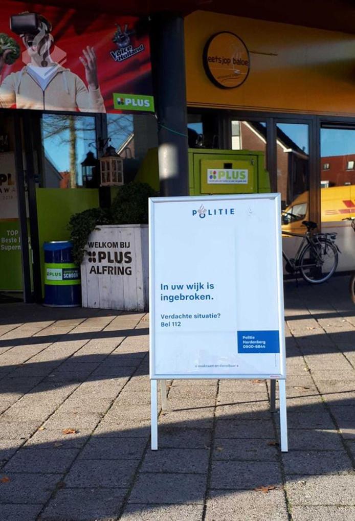 De politie in Hardenberg waarschuwt in de wijk Baalderveld voor inbrekers.