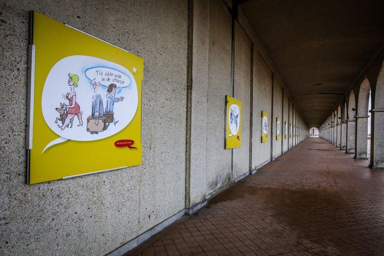 Willy Bosschem tekende speciale cartoons bij Oostendse uitdrukkingen