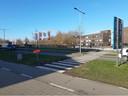 De voetgangersoversteek in de Lambrechtlaan.