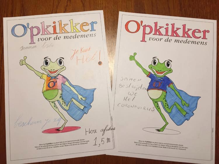 Kids aan de slag gegaan met de O'pkikker