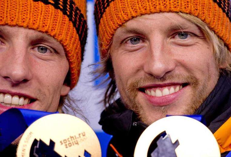 Tweelingbroers Ronald en Michel Mulder Beeld anp