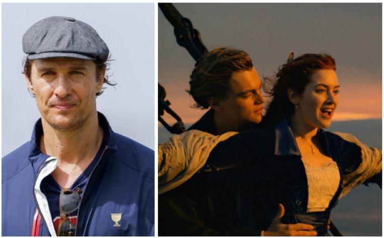 Matthew McConaughey was bijna Jack in 'Titanic'.