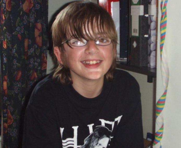 De foto van Andrew die werd verspreid vlak na zijn vermissing.