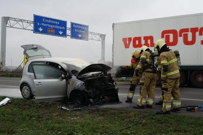 De auo is geblust op de A326 bij Wijchen.