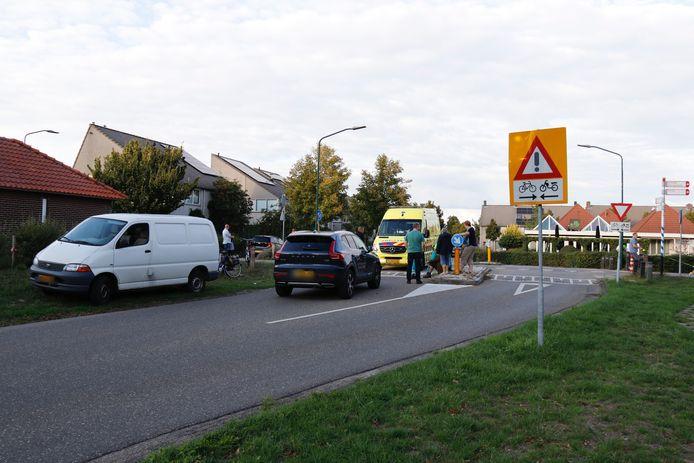 De situatie na de aanrijding van de e-biker in Boxmeer.