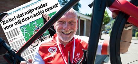 Paul fietste sponsortocht voor zieke dochter Iris die binnenkort nieuwe nier krijgt