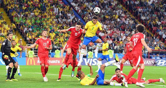Thiago Silva knikkerde de 0-2 binnen.
