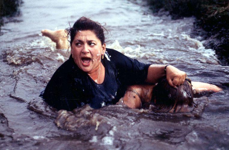 Annet Malherbe in 'Kleine Teun' uit 1998. Beeld RV