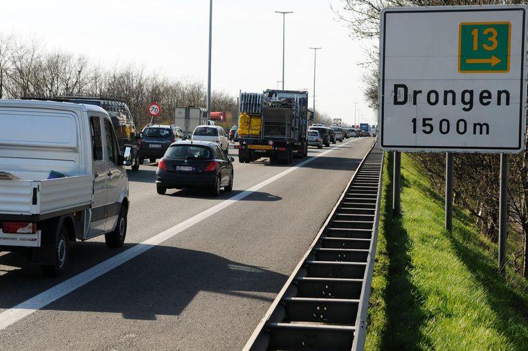 Archieffoto. De inbreker crashte na een achtervolging van 70 kilometer lang, van in Oostduinkerke tot in Drongen.