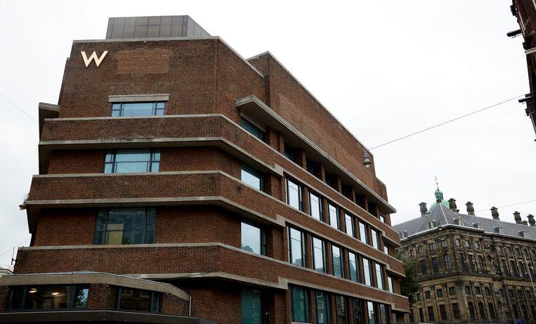 Eén van de twee panden van hotel W Amsterdam aan de Spuistraat. Beeld Hollandse Hoogte /  ANP