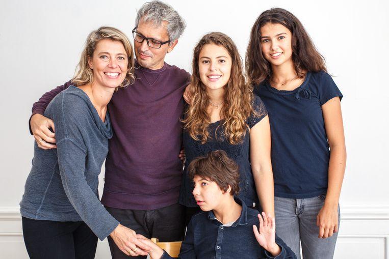 Boukje Bügel-Gabreëls met haar man Marnix, dochters Milou en Lieke en zoon Daniël. Beeld Privécollectie