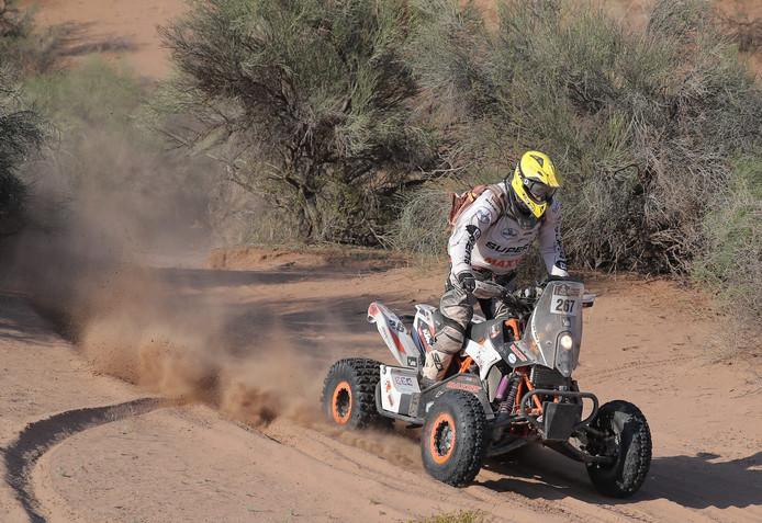 Kees Koolen tijdens etappe 11 van de Dakar Rally 2017