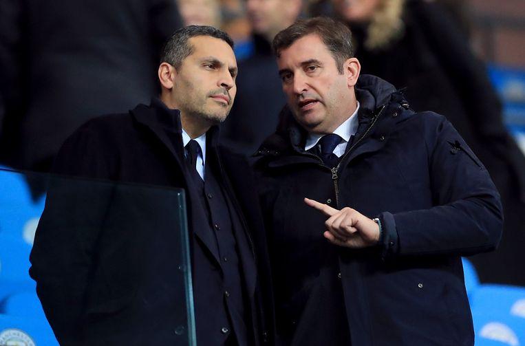 Man City-voorzitter Khaldoon Al Mubarak en directeur Ferran Soriano.