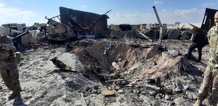 Iran vuurde woensdag al raketten af op twee luchtmachtbases in Irak waar Amerikaanse soldaten ondergebracht zijn