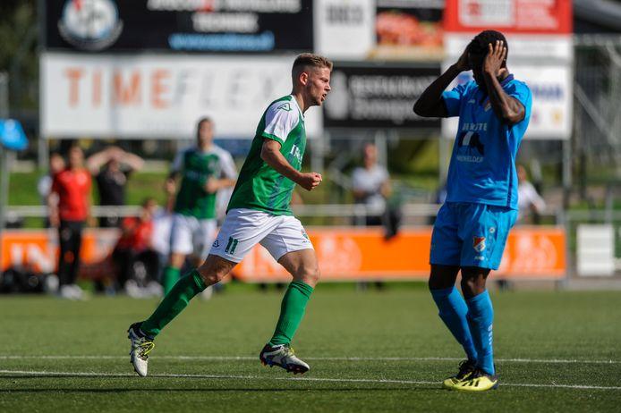 Het begin van de ommekeer, Jeroen Buitenhuis heeft VVOG weer in de wedstrijd geschoten met de 1-2.