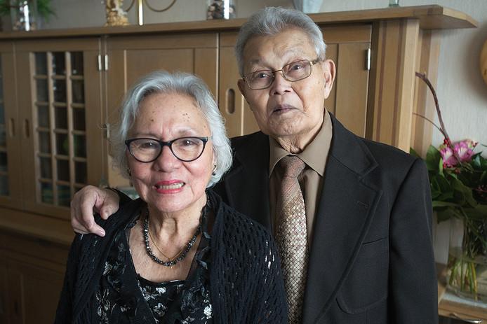 Hillgje en Eduard Pichel uit Oss zijn 65 jaar getrouwd.
